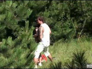 Hot teen bitch screams with joy