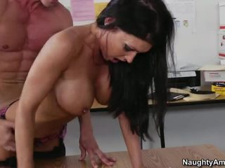 hardcore sex, office, office sex, long tongue pornstar