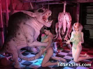 3d Cartoon hentai Cartoon bizarre tentacle monster fetish extreme ogre giant Cartoon toon manga freak elf alien cum ugly