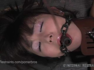 Japanese marica hase first time in metal bondage