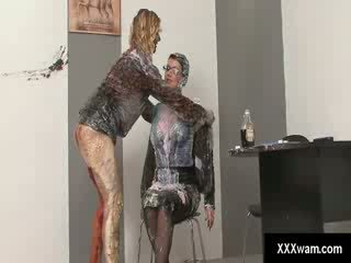 Two kinky Lezzies love making messes and getting as dirty as possible