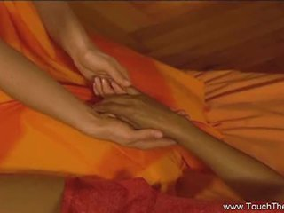 Lesbian tantric massage with hot babes