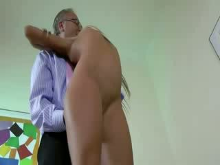 small amateur Blond fucks old guys dong