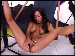 brunette, orgasm, cum