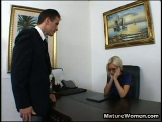 Now This Is One Astonishing MILF! Nice And Big Titted Blonde Brandi Edwards Is Disappointed Surrounding A Performance Of Her Employee, Talon. She Calls Him In Her Office, Intending Onto Giving Him