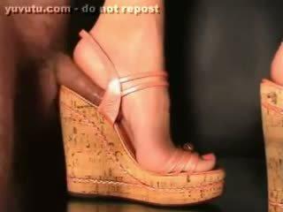 гаряча півень гаряча, свіжий взуття реальний, найбільш фут веселощі