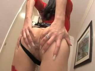 Jayla starr shows spento suo molto sexy rosso lingerie