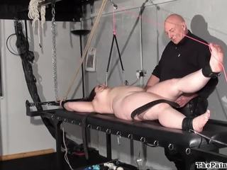 Chubby female torture and nipple clamped bbw bdsm