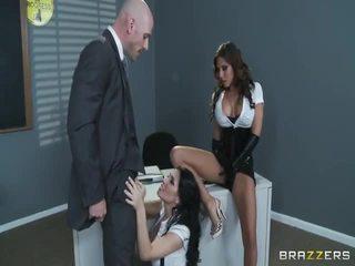heetste brunette, vers meisje op meisje mov, nominale pijpbeurt porno