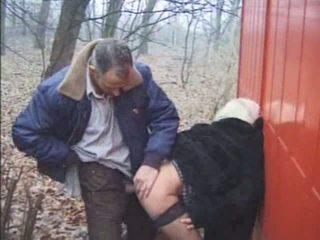 Outdoor Granny Sex Video