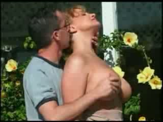 Michel Steuve's wife mature mon Colette Choisez fucked outdoor by a teen
