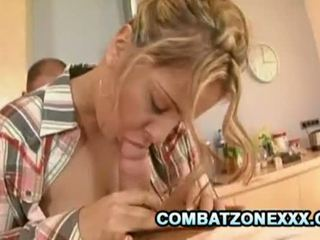 Combat Zone XXX: Two big hard cock for one sexy blonde babe.