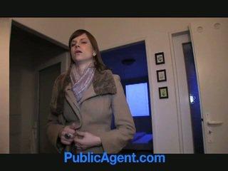 公共 agent fucks 妊娠した marketa