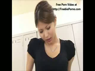 FreebiePorno.com japanese teacher giving school girl sex lesson part 2