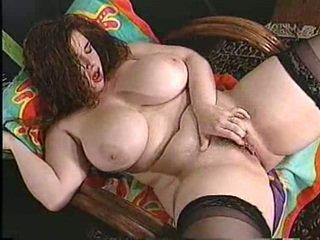 masturbating, huge tits, redhead