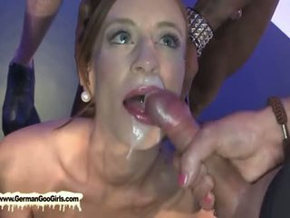 Two Sexy Young Sluts Lose Their Bukkake Virginity