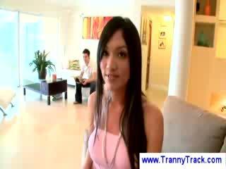 Asian tranny adores black schlong