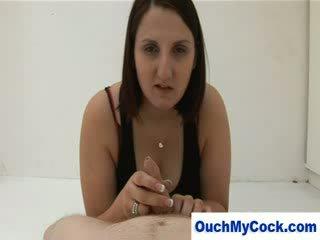 Angry Big amazing Woman customer gives con man artist a harsh hj