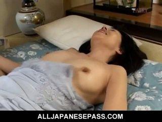 brunette, japanese, doggy style, svart hår