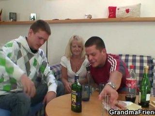 drunk, grandma, foursome
