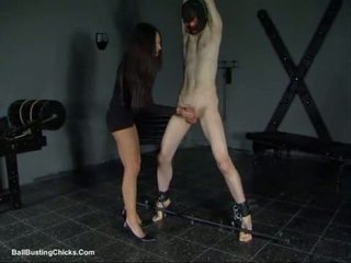 Slapping cock and ballbusting cbt