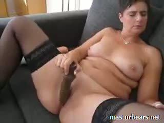 kwaliteit brunette, kwaliteit speelgoed, meer masturbatie vid