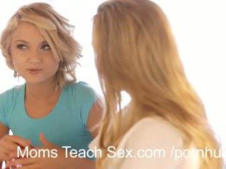 ร้อน เซ็กส์สามคน ด้วย เซ็กซี่ แม่ และ ลูกสาว duo