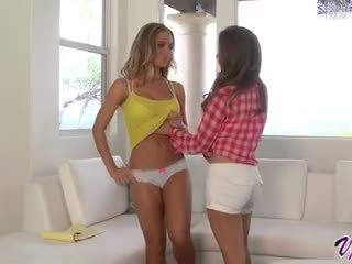 Emily Addison and Nicole Aniston hot lesbian sex