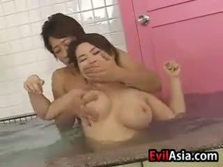 Азіатська синиця ебать на the сауна