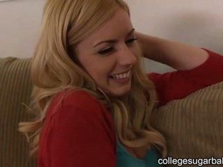 coed, college flicka, söt
