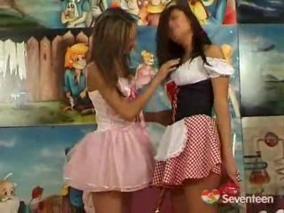 Lesbian Teenagers Having Funtime