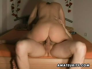 brunette scène, vol pijpbeurt video-, plezier geschoren tube