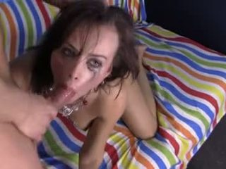 brunette tube, oral sex, real deepthroat movie