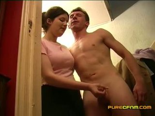 Spying On The Nanny Jerking Off Her Boyfriend