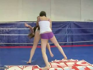 brunette real, all lesbian, hot lesbian fight
