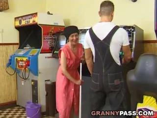 heet oma scène, grannies, ideaal matures
