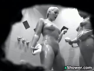 kijken brunette, meer voyeur video-, douche porno