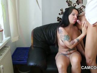 German Hot Mother get fucked by young boy when Dad not home
