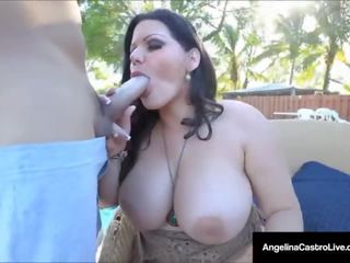 Cuban Princess Angelina Castro Fucks Her Pool Boy's Cock!