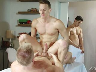 Lance Watches From The Door As Liam Pounds Darius Prostate