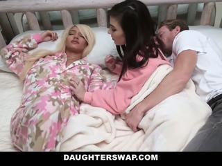 Daughterswap - swapped and fucked during sleepover