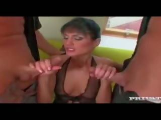 brunette, deepthroat, euro, blowjob