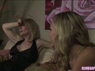College Aged Nicole Ray Seduces Milf Nina Hartley