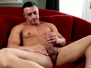 Marco Teases The Head Of His Dick With Fingers Foreskin
