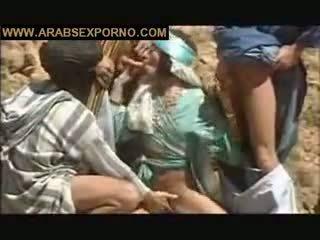 viertal seks, ideaal buiten- film, arabisch seks
