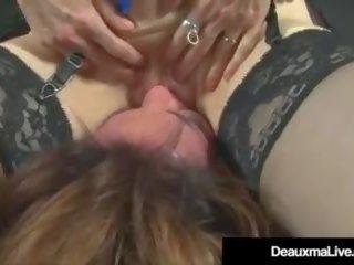 Horny Cougars Deauxma & Nina Hartley Fuck & Suck Black