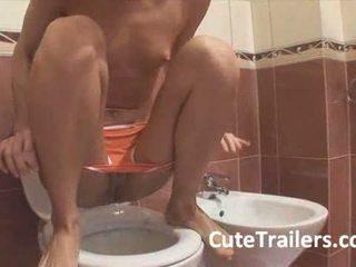 pissen jeder, toilette mehr, frisch teen