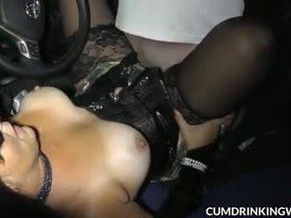 brunette, college, cumshots, squirting