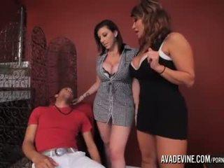 PornstarPlatinum - Ava Devine and Sarah Jay with son's friend
