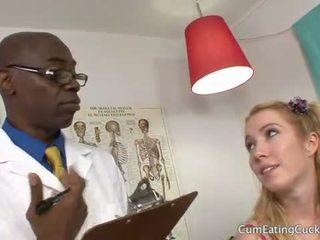 Nikki blue gets a 검정 형사 으로 hubby watches